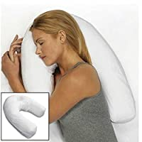 Bluelover U-Shape PP Cotton White Pillow Side Sleeper Headrest Travel Soft Anti-snoring Cushion