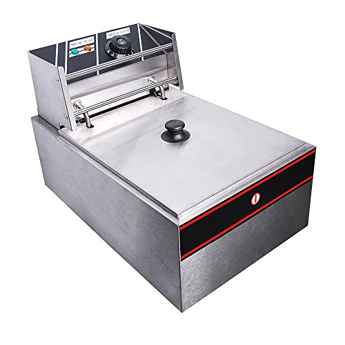 518Iccl3rxL. SS500  - ReaseJoy 3000W 10L Electric Deep Fryer Countertop Stainless Steel Single Tank with Drain Timer Basket Commercial Home