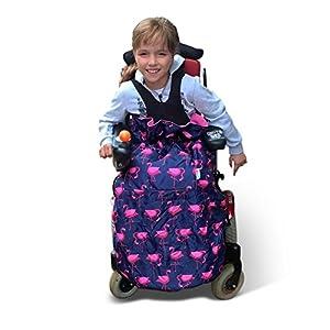 BundleBean Child Wheelchair Cosy/Special Needs Buggy Cosy - Waterproof, Fleece, Universal fit