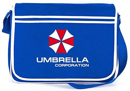 Shirtstreet24, Umbrella Corporation, Retro Messenger Bag Kuriertasche Umhängetasche Royal Blau