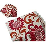 TIED RIBBONS Dining Table Mats Set Of 6 With Coasters(42 Cm X 28 Cm, PVC)