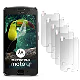 5X Lenovo Moto G5 | Schutzfolie Matt Display Schutz [Anti-Reflex] Screen Protector Fingerprint Handy-Folie Matte Displayschutz-Folie für Motorola Moto G5 Displayfolie