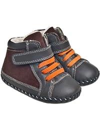Little Blue Lamb–Zapatos para bebé unidad lernschuhe Booties Botas 21005marrón 18–24Meses