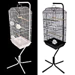Easipet Large Metal Bird Cage with Stand Suitable For Multiple Birds (Black) 13