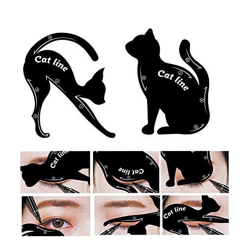 Chinget Eyeliner Schablone Katze Form Cat Eyeliner Vorlage Smoky Lidschatten Applikatoren Augen...