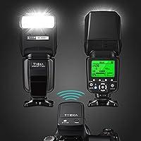 Tycka Professional E-TTL Flash avec télécommande de déclenchement sans fil 2.4G pour Canon, 58GN, Maitre et Esclave Mode, 1 / 8000s Synchronisation haute vitesse, Synchronisation du rideau arrière, M / Auto Focus, Affichage LCD, pour portrait de mariage studio en plein air