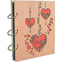 """Umi. by Amazon - album fotografico, design """"Love"""", con tasche 13 x 18, capacità 120 foto"""