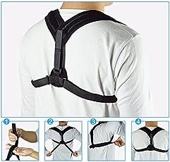 Lepakshi Upper Back Posture Corrector Clavicle Support Belt Back Slouching Corrective Posture Correction Spine Braces Supports Health
