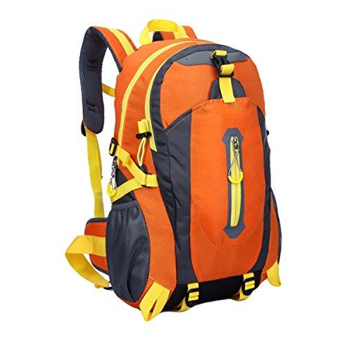 Im Freienberg Taschen Wasserdichte Nylonbeutel Paar Freizeitsporttasche,Black orange
