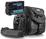 Kit Mantona Premium SYSTEM Tasche + PATONA Comfort Akku für Sony NP-FM500H mit Infochip (neueste Generation 100 Prozent kompatibel)