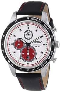 Seiko - SNDD91P1 - Montre Homme - Quartz Chronographe - Chronomètre/ Aiguilles lumineuses - Bracelet Cuir Noir