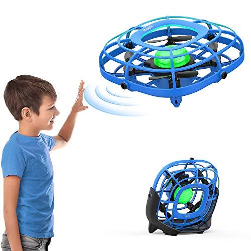 SANROCK Drohne für Kinder U58 Handbetriebene UFO Mini Drohne und Fan, Fliegender Ball Spielzeug RC Quadcopter Hubschrauber für Kinder, Gift Spielzeug für Kinder