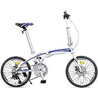 YEARLY Adultes Vélos Pliants, Vélo Pliable Lightweight Portable Hommes Et Femmes 16 Vitesse Vélo Pliant