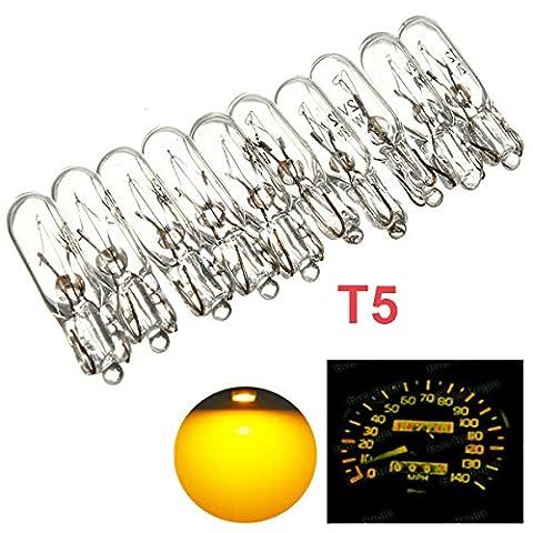 Audew 10X T5 286 12V 1.2W Ampoule Lampes Bulb Halogène d'instruments pour voiture