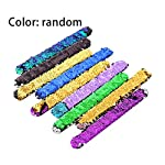 Colorful Sequin Slap Bracelets Party Wrist Strap Fashion Wristband for Kids Birthday Holiday Beach Party Supplier