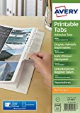 Best Avery Dividers - Avery 05412061 Double Side Printable Adhesive Divider Tabs Review