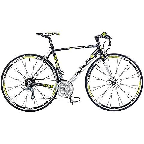 Fischietto Nakoda 1481Corsa 16velocità 700C Bicicletta Flat Bar 51cm Telaio in lega whs154