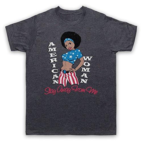 Inspiriert durch Guess Who American Woman Unofficial Herren T-Shirt Jahrgang Schiefer