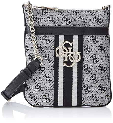 Guess Damen Vintage Tourist Umhängetasche, Weiß (Black), 19x22x4 centimeters (Guess Schuh Für Frauen)