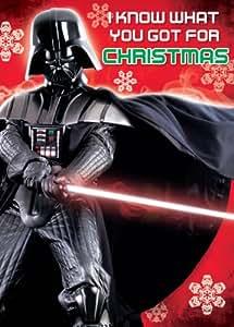 Star Wars Sound Christmas Greeting Card