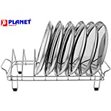Planet Stainless Steel Plate Rack / Dish Rack / Plate Stand / Dish Stand / Utensil Rack / Chrome Plated