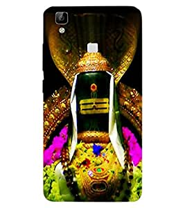 ColourCraft Divine Shivling Design Back Case Cover for VIVO V3 MAX