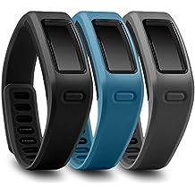 FUNKID Recambio pulsera con broches para Garmin Vivofit/Garmin Vivofit Fitness, banda de reemplazo para Garmin Vivofit (3en1 Paquete)
