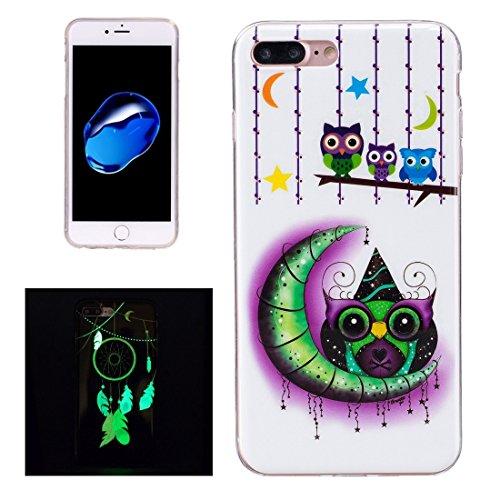iPhone Case Cover Pour iPhone 7 Plus Noctilucent Plum Pattern IMD Workmanship Soft TPU Back Cover Case ( SKU : Ip7p1673j ) Ip7p1673d