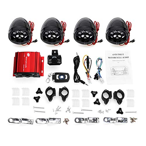 JINHUGU 4 Lautsprecher Verstärker System Fernbedienung Audio mit Bluetooth Funktion für ATV Motorrad New -