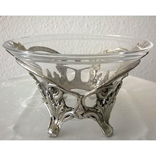 Antike Glas Schalen (Frieling - Antik-Zinn/Glas Schale 18 cm Ø)