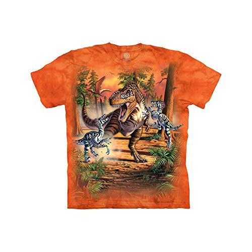 The Mountain Kinder Dino Battle Kids Tee T-Shirt, Orange, M (Bildschirm-drucker T-shirt)