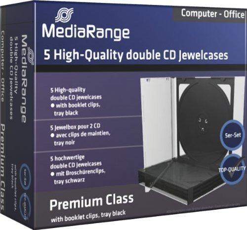50 (10x 5Stk) MediaRange DVD CD Hüllen 2fach 2er Jewelcases