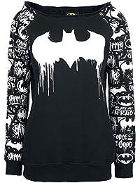 Batman Graffiti Sweat-shirt Femme noir/blanc