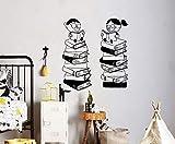 Camera dei bambini baby room libro adesivi murali in vinile arte coperta soggiorno camera da letto decorazione murale 84 * 92 cm