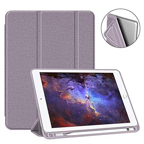 Fintie SlimShell Hülle für iPad 9.7 2018 - Superleicht Soft TPU Rückseite Abdeckung Schutzhülle mit eingebautem Pencil Halter, Auto Schlaf/Wach für iPad 6. Generation, Jeansoptik Lavendel - Ipad Gb 64 4. Generation