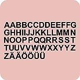 kleb-drauf® - 58 Buchstaben, Höhe je 5 cm / Grau - glänzend - Aufkleber zur Dekoration von Autos, Motorrädern und allen anderen glatten Oberflächen im Außenbereich; aus 19 Farben wählbar; in matt oder glänzend