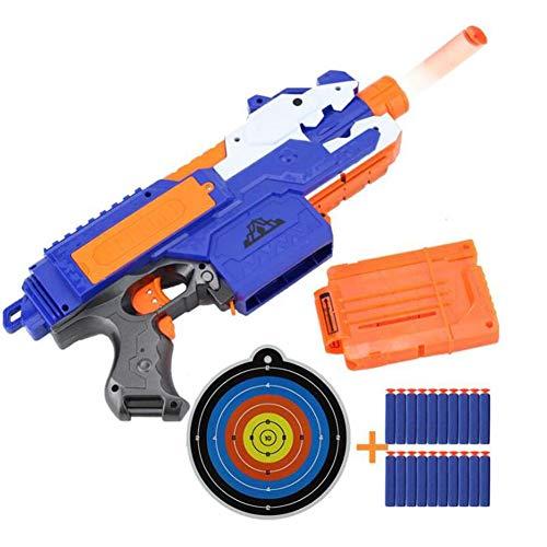 MSQL High Speed Toy Blaster Pistole mit Schaumstoffpfeilen, Elektroantrieb, mit 20 Schaumstoffpfeilen, batteriebetrieben