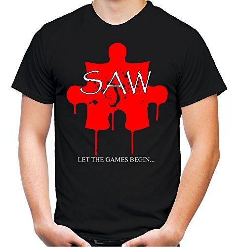 Saw Puzzle Männer und Herren T-Shirt | Spruch Jigsaw Horror Geschenk (XXXL, ()