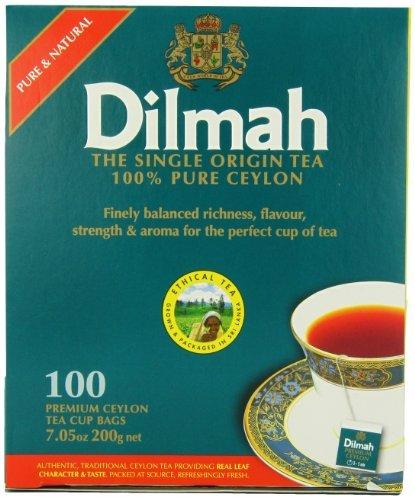Dilmah 100 %Pure Ceylon Tee, 100 Teebeutel-Count (Pack of 3), Garten, Rasen, Instandhaltung