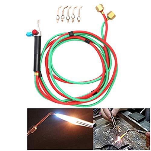 Mini Gas Little Torch Gasschweißen Schneidbrenner-Kit Micro Mini Gas Little Torch Sauerstoff- und Acetylen-Schweißmetall-Kit mit 5 Schweißspitzen 6000 Grad F -