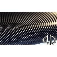 Auto Folie Carbon Folie 4D 100 x 152 cm selbstklebend Carbonfolie Auto Klebe Folie folieren