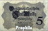 Deutsches Reich Rosenbg: 48c, 8stellige Kontrollnummer gebraucht (III) 1914 5 Mark (Banknoten für Sammler)