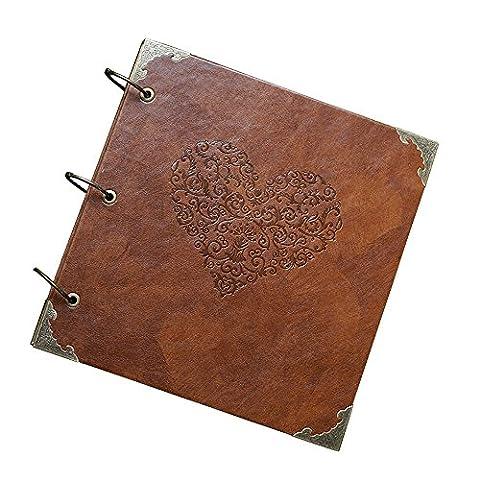 Agent T, Vintage Sammelalbum/Fotoalbum/Hochzeitsbuch/Gästebuch; Leder, selbstklebend
