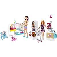 Barbie Nurserie Skipper Playset, Bambola Con Bambolotti, Lettino, Fasciatoio E Tanti Accessori, Per Bambini 3+ Anni…