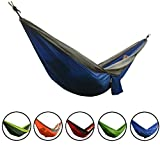 Smarcy - Hamaca de nailon portátilpara camping o jardín, 270 x 140 cm para dos personas, col...