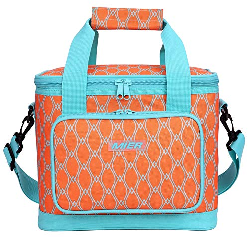 MIER Picnic Cool Bag Large Insulated Lunch Bag, Orange