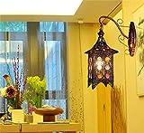 B&D BD Simple Pearls Lounge Schlafzimmer Wandleuchte Treppenlampe , Wandleuchte Kreativ Einfache und Stilvolle europäische Retro Burg,B