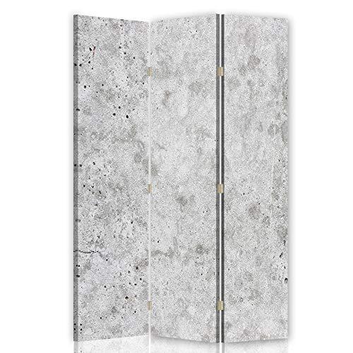 Feeby Pared Española Abstracción 3 Paneles Bilateral Mármol Piedra Gris 110x175 cm