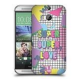 Head Case Designs Super Duper Retro Wave Zitate Ruckseite Hülle für HTC One M8 / M8 Dual SIM