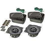 tomzz Audio ® 4000-010 Aufbau Lautsprecher-Satz im Gehäuse, Din 100, 2-Wege Koax System, 80 Watt